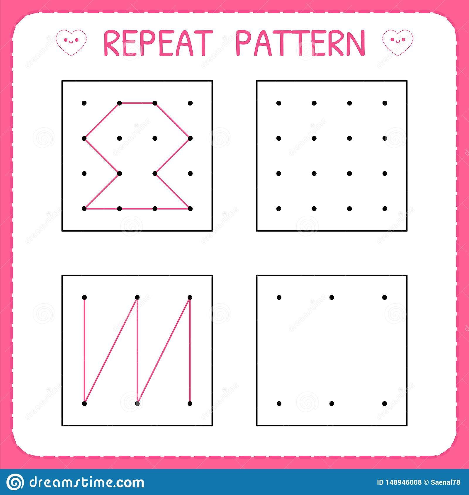 Repeat Pattern Educational Games For Practicing Motor