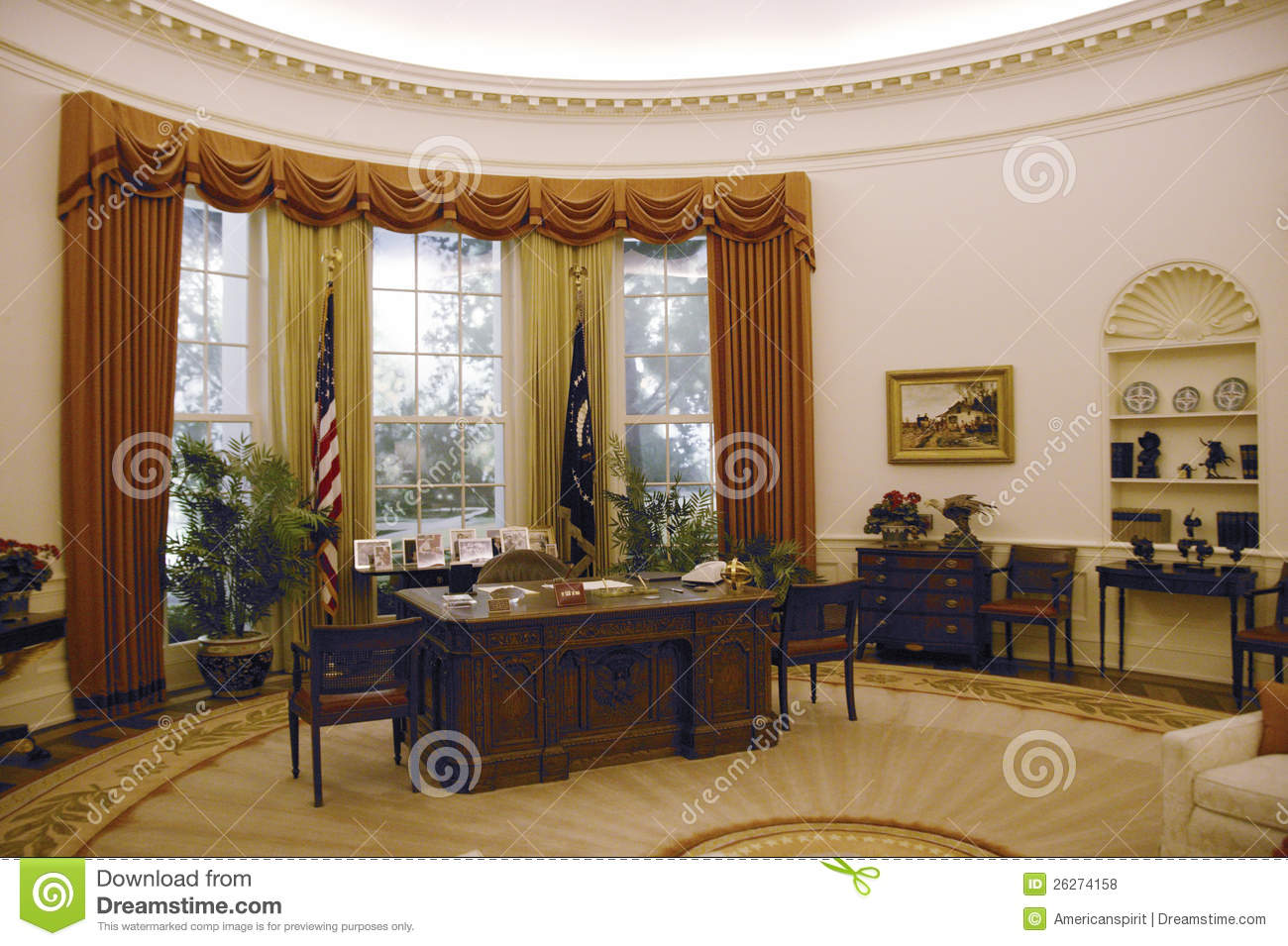 Replica Of The White House Oval Office Editorial Stock Photo  Image 26274158