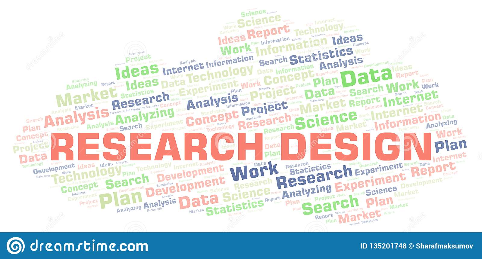 Research Design Word Cloud Stock Illustration
