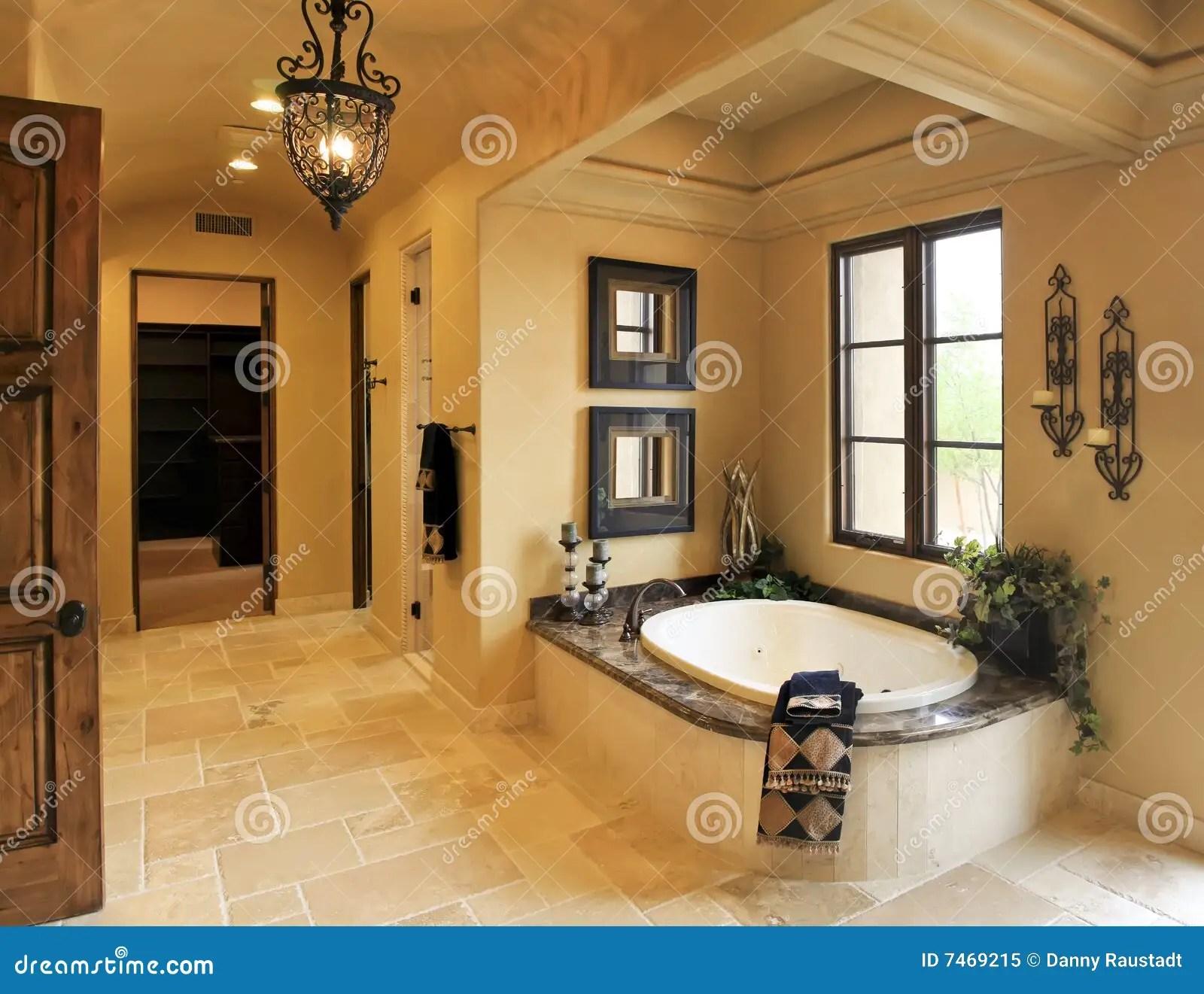 Resort Mansion Bathroom Spa Royalty Free Stock Photo