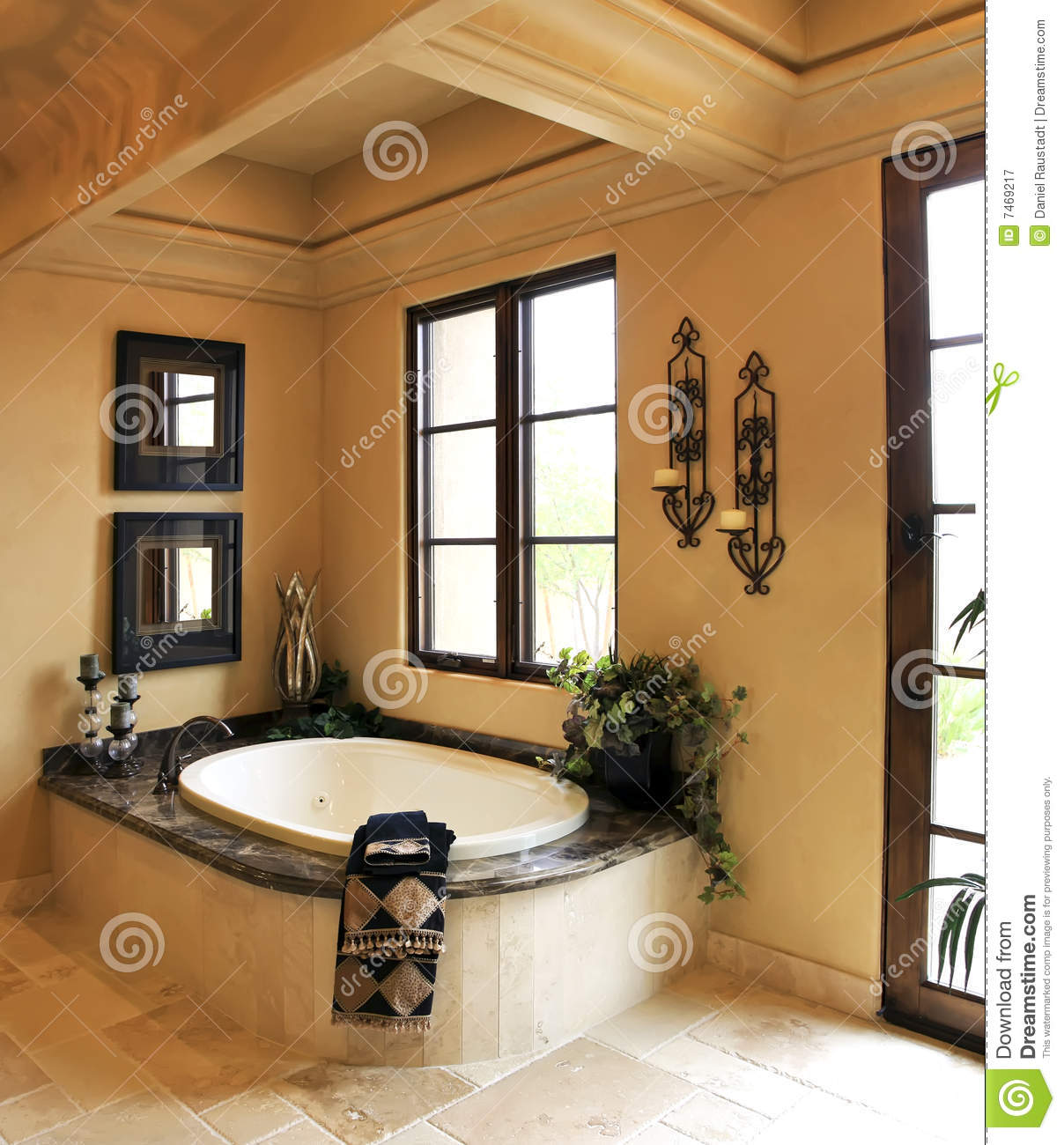 Resort Mansion Bathroom Spa Stock Image  Image 7469217