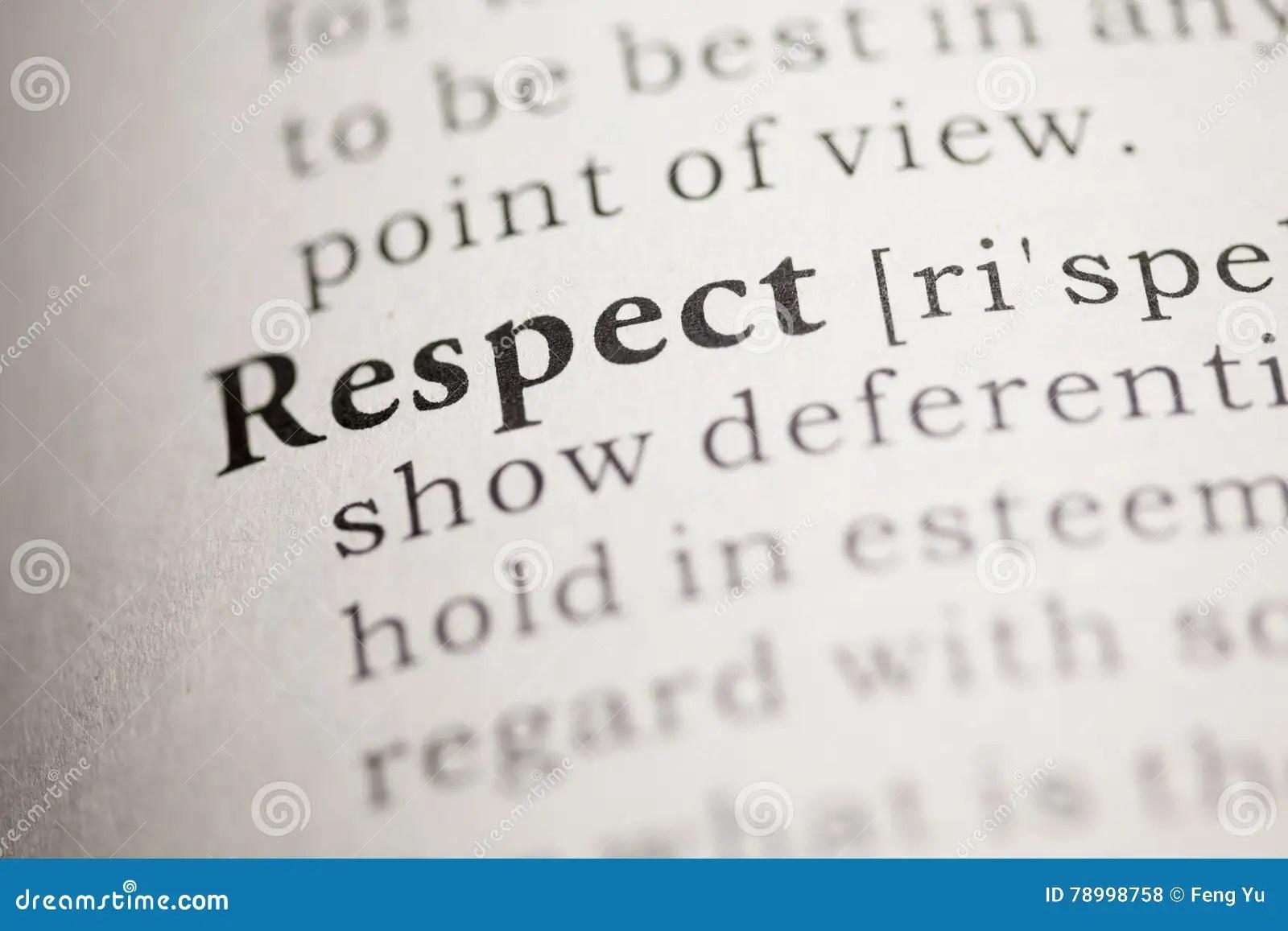 Respect Stock Photo Image Of Text Respect Descriptive