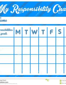 Weekly chart with goals and responsibilities also responsibility stock illustration of ambitions rh dreamstime