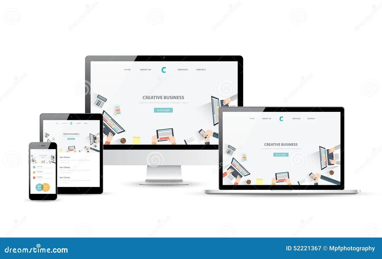 Responsive Web Design And Website Development Vector