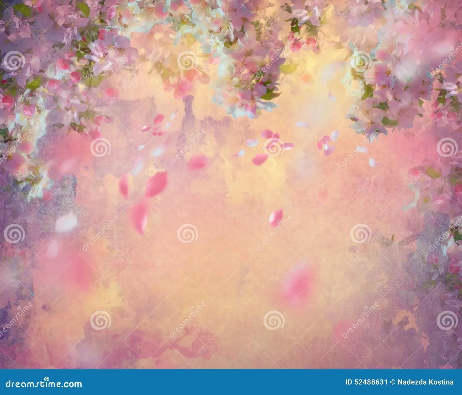 Ressort Cherry Blossom Painting Illustration Stock