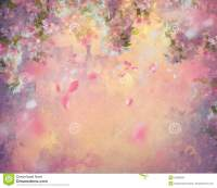 Ressort Cherry Blossom Painting Illustration Stock ...