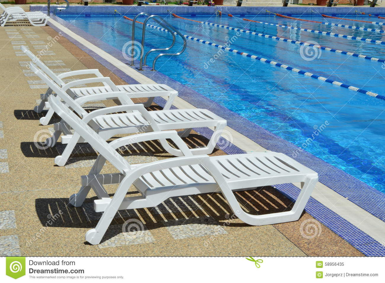 Chairs For Pool Rest Chairs By The Pool Stock Image Image Of Pool Chair 58956435
