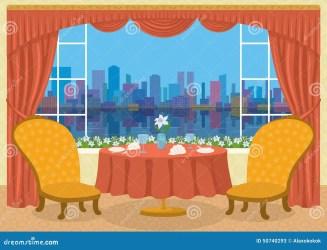 Dining Room Decoration: Dining Room Cartoon Background