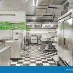 Restaurant Equipment Modern Industrial Kitchen Stock Illustration Illustration Of Indoor Interior 157551972