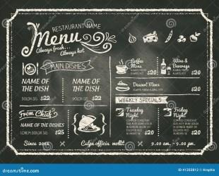 menu chalkboard background food restaurant vector chalk shutterstock blackboard dreamstime illustration illustrations decoration clipart vectors designs cafe menue coffee visit