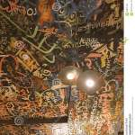 A Restaurant With A Graffiti Ceiling Editorial Stock Photo Image Of European Street 99091348