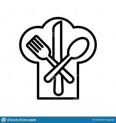 Restaurant Icon Vector Isolated On White Background Restaurant Sign Line And Outline Elements In Linear Style Stock Vector Illustration of chef black: 134157142