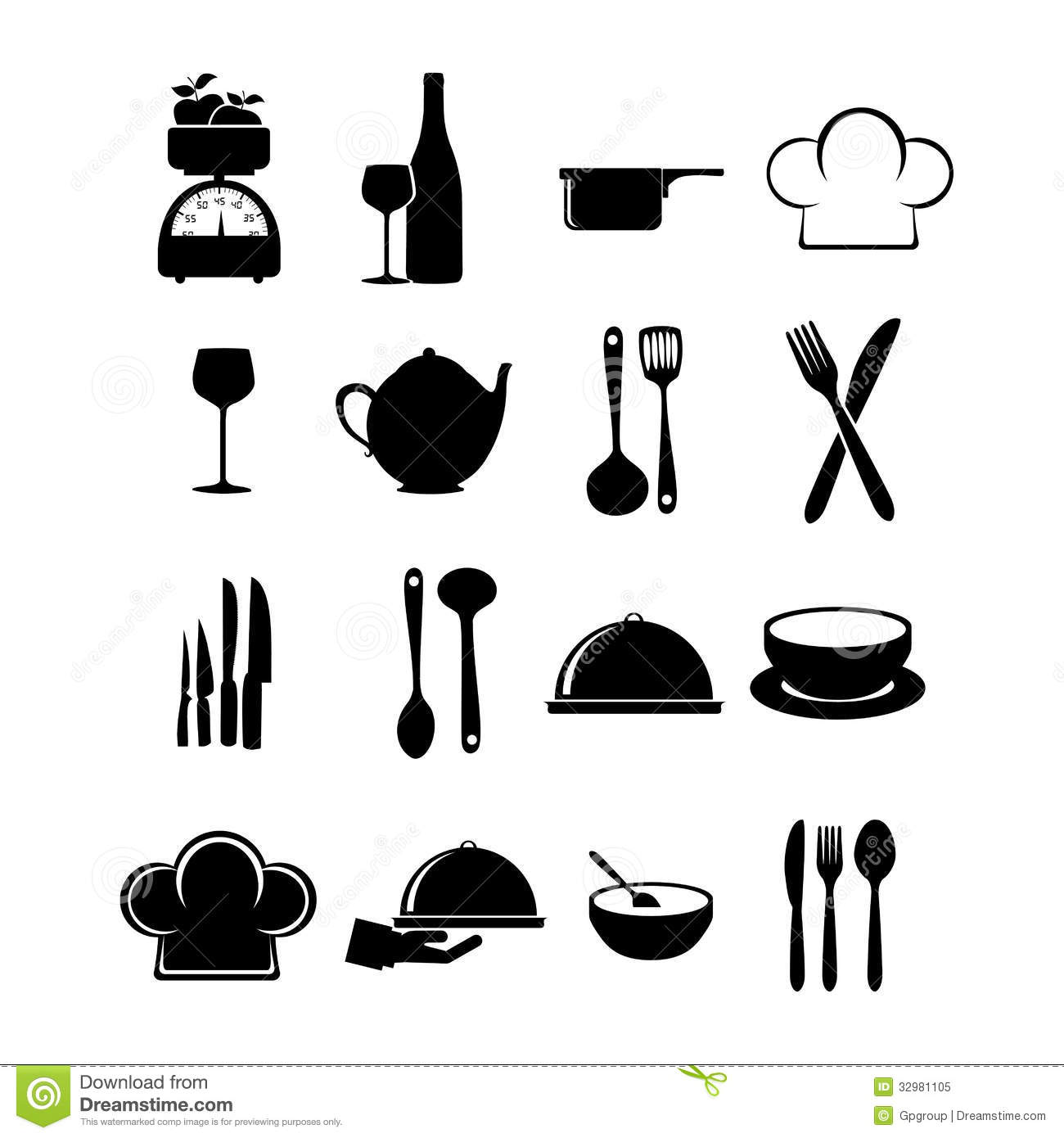 Restaurant Icons Stock Vector Image Of Hand Restaurant