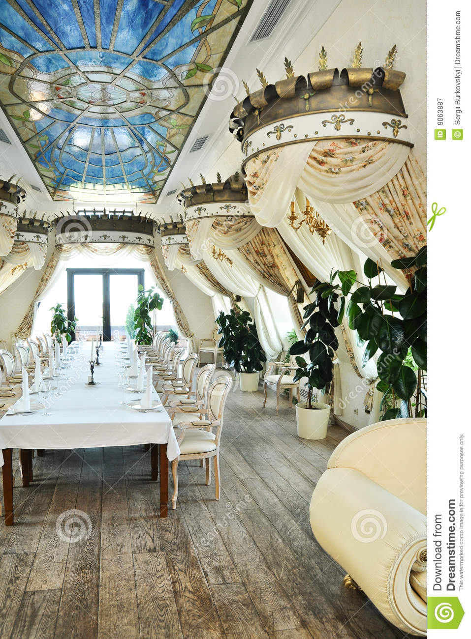 Restaurant Interior In Baroque Style Stock Image  Image