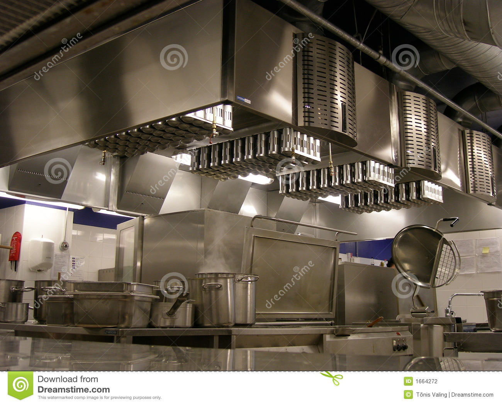 kitchen ventilation fan modern tile restaurant stock photo. image of filters, line ...
