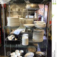 Commercial Kitchen Equipment Prices Trolley Cart Restaurant Dishwasher Area Stock Photos - Image ...