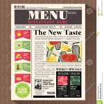 Restaurant Menu Design Template In Newspaper Style Stock Vector Illustration Of Party Coffee 41056963