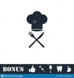 restaurant icon menu flat vector