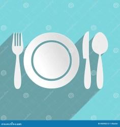 restaurant menu icon plate flat cutlery vector