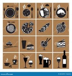 menu restaurant icons ristorante icone