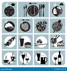 menu icons restaurant preview