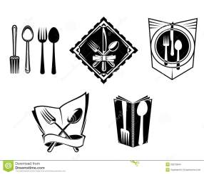 menu symbols icone restaurant ristorante simboli icons het symbolen illustrazione