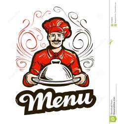 chef restaurant menu vector diner icon cafe clipart american illustration lunch character
