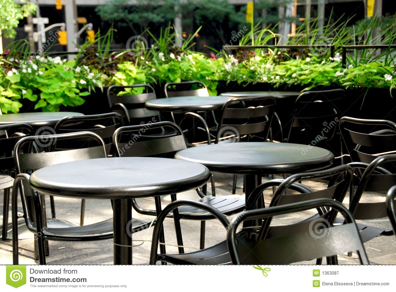 Restaurant Patio Chairs Restaurant Patio Stock Image Image Of Chairs City