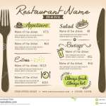 Restaurant Placemat Menu Vector Design Layout Stock Vector Illustration Of Layout Decorate 45972003