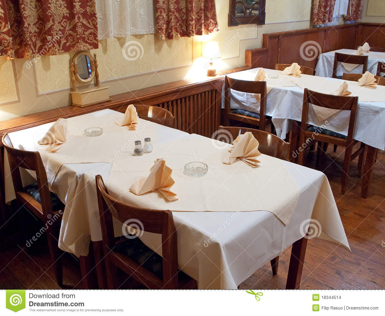 Restaurant Tables Stock Images  Image 18344514