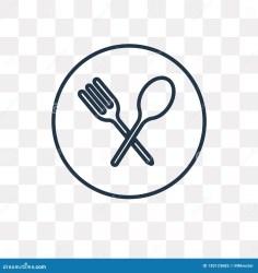 Restaurant Vector Icon On Transparent Background Linea Stock Vector Illustration of menu fork: 130123685