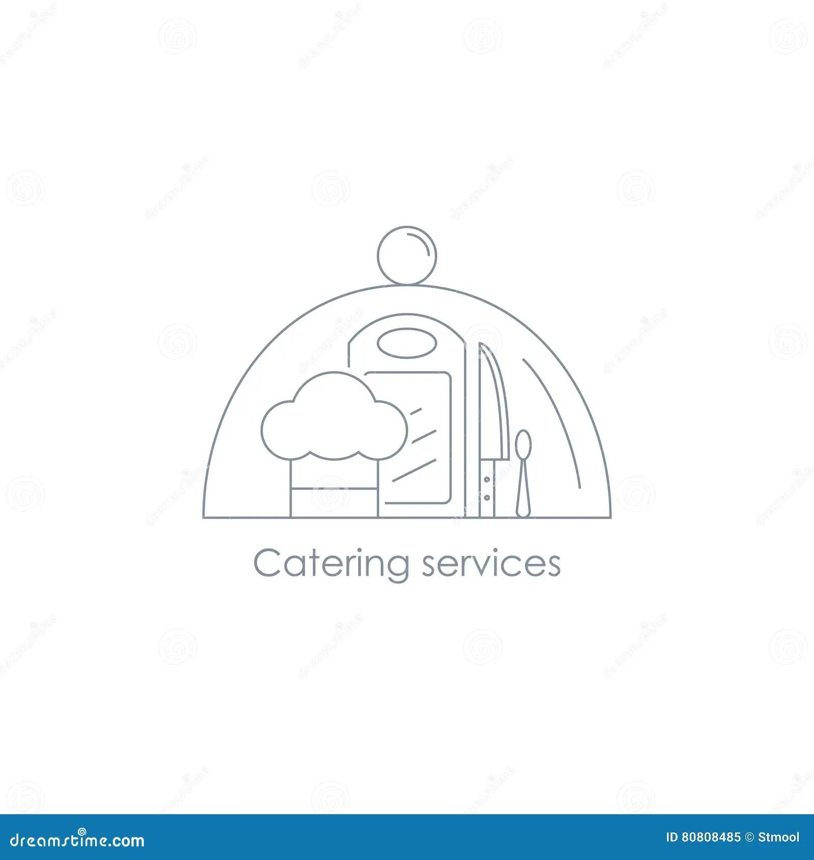 Catering Service Menu Food Icon Cartoon Vector