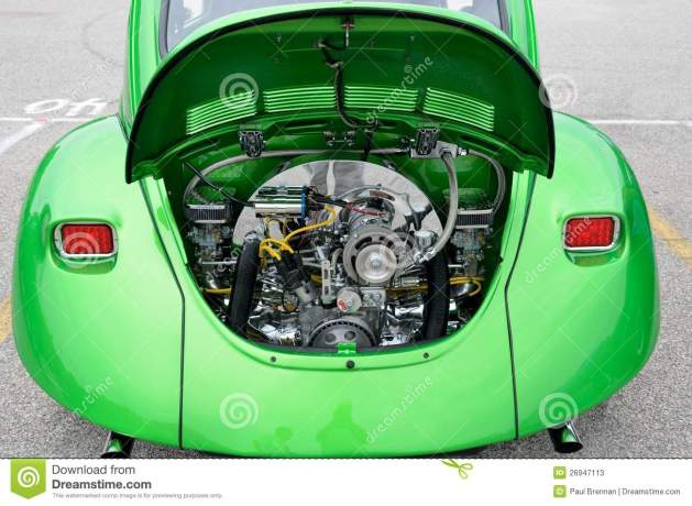 Restored VW Beetles Engine