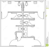 Restrooms plan stock illustration. Illustration of