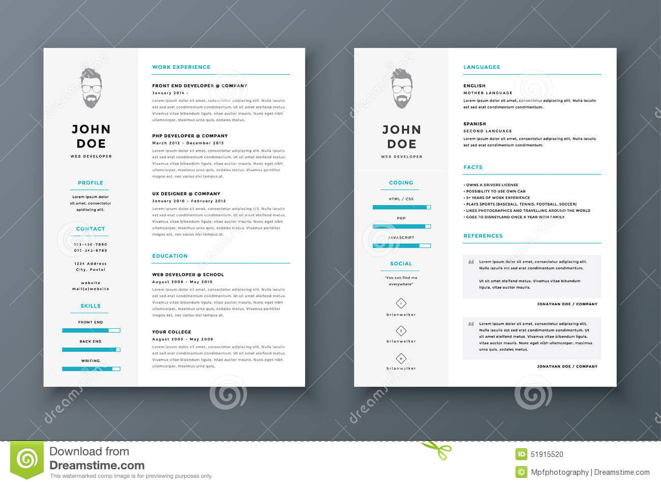 awesome cv template