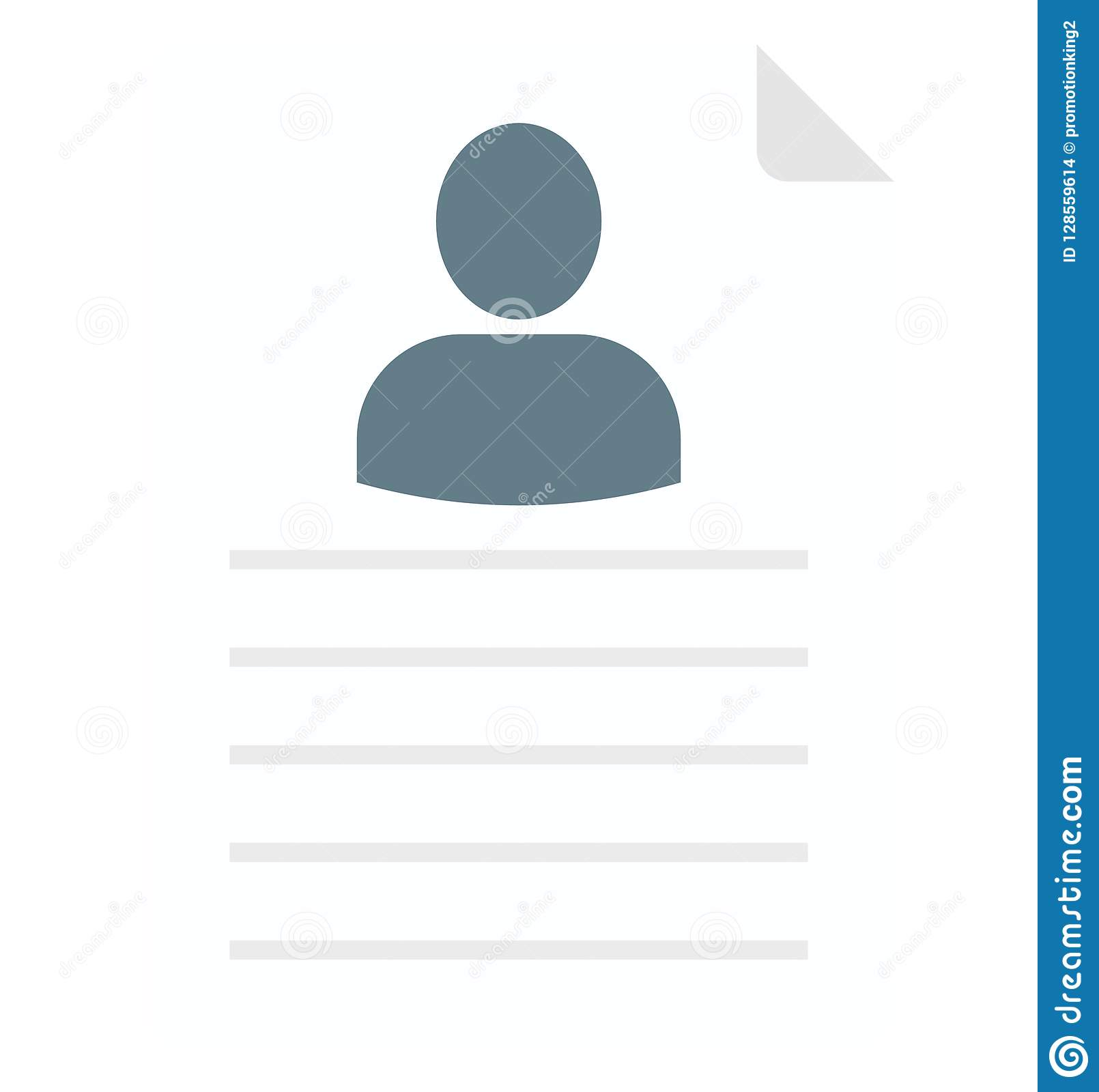 Edit Resume Resume Isolated Vector Icon That Can Be Easily Edit Or Modified