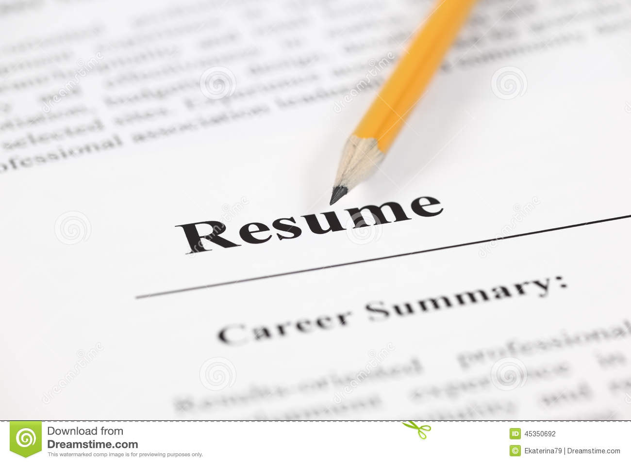 Thank You For Taking The Time To Read My Resume Resume Stock Photo Image 45350692