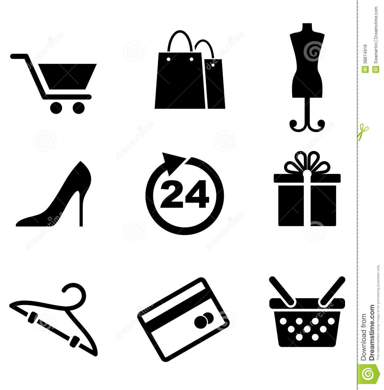Retail And Shopping Icons Stock Vector Illustration Of