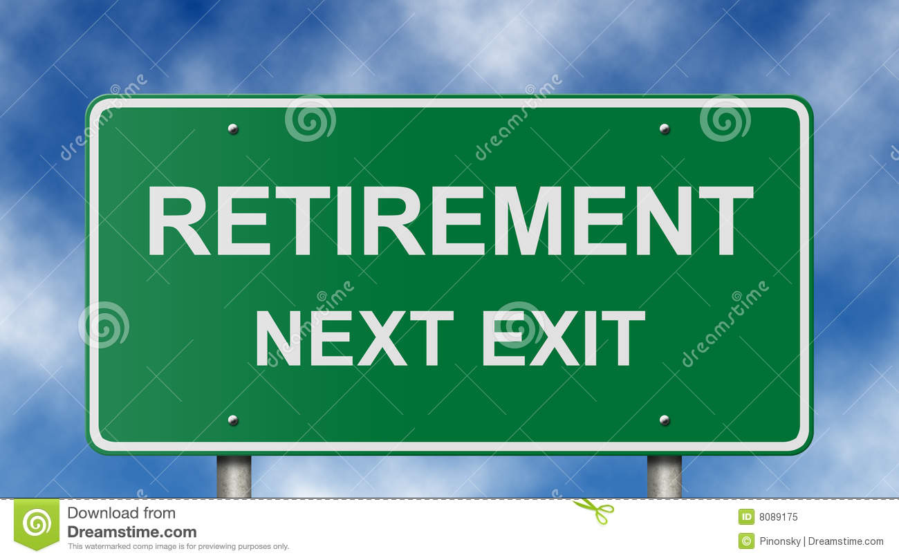 Retirement Road Sign stock image Image of ready humor