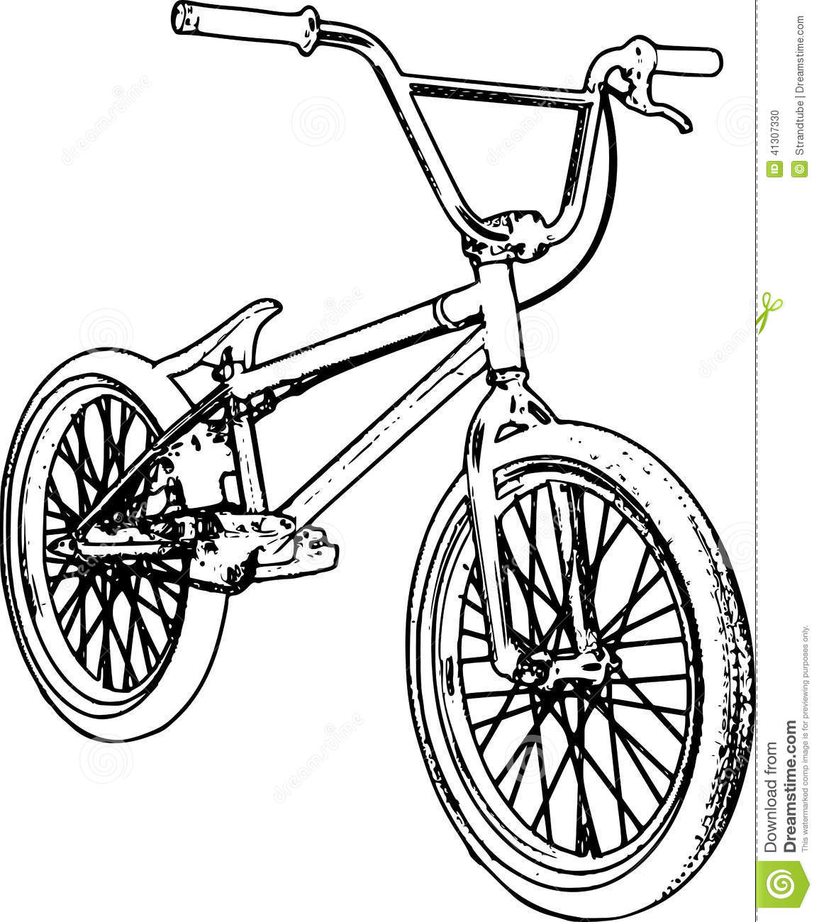 Racing Bike: Racing Bike Colouring Pages