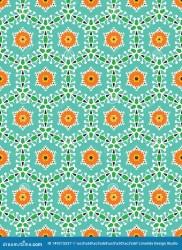 quilt block bold floral circles trendy pattern retro vector seamless summer feminine hand