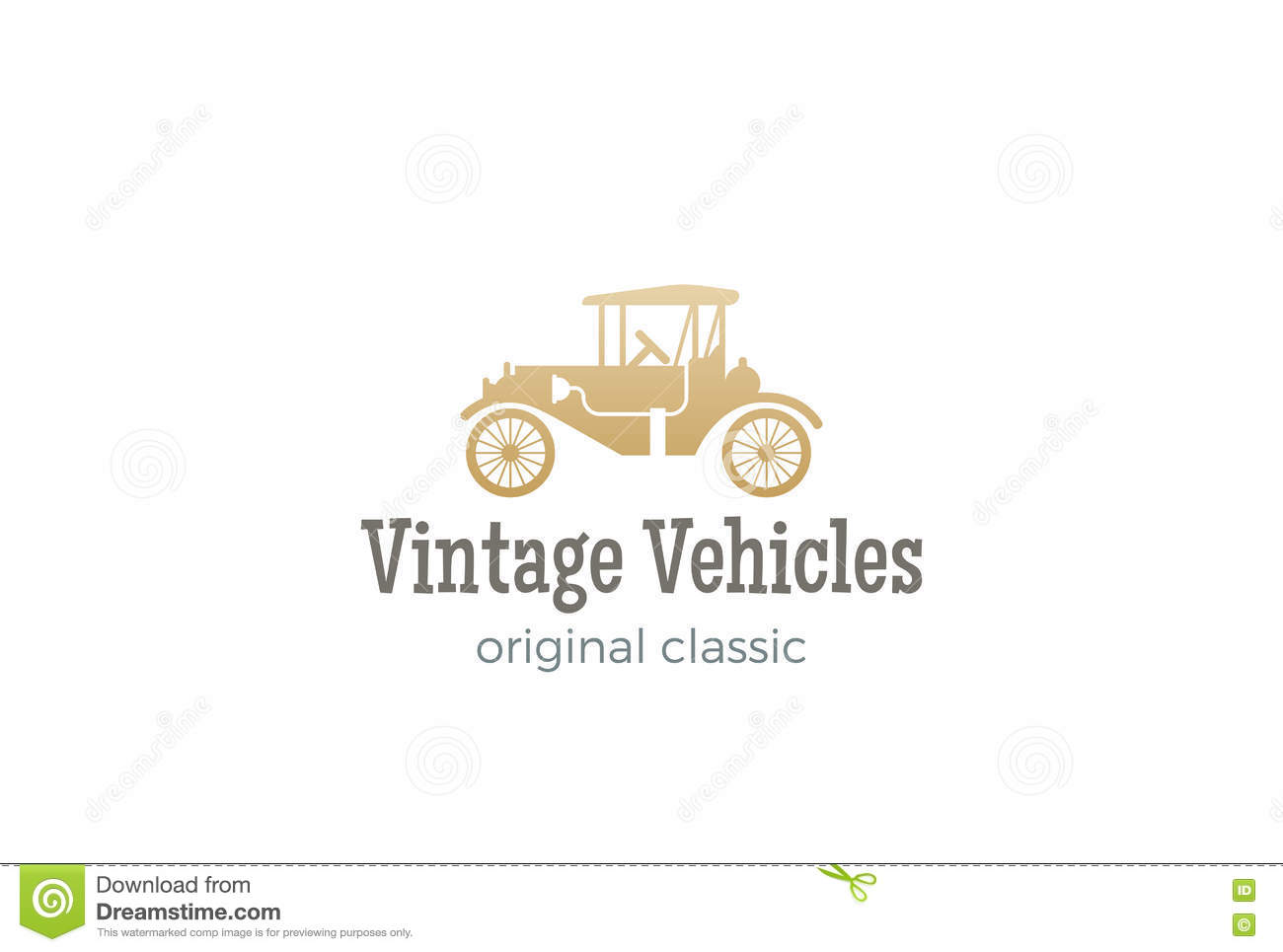 Retro Car Logo Vector Vintage Classic Vehicle Stock Vector