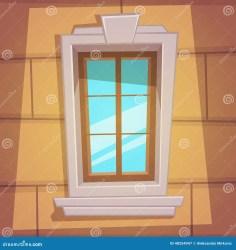 retro window cartoon fenster casa kartoon karikatur animato cartone finestra clipart wooden vector