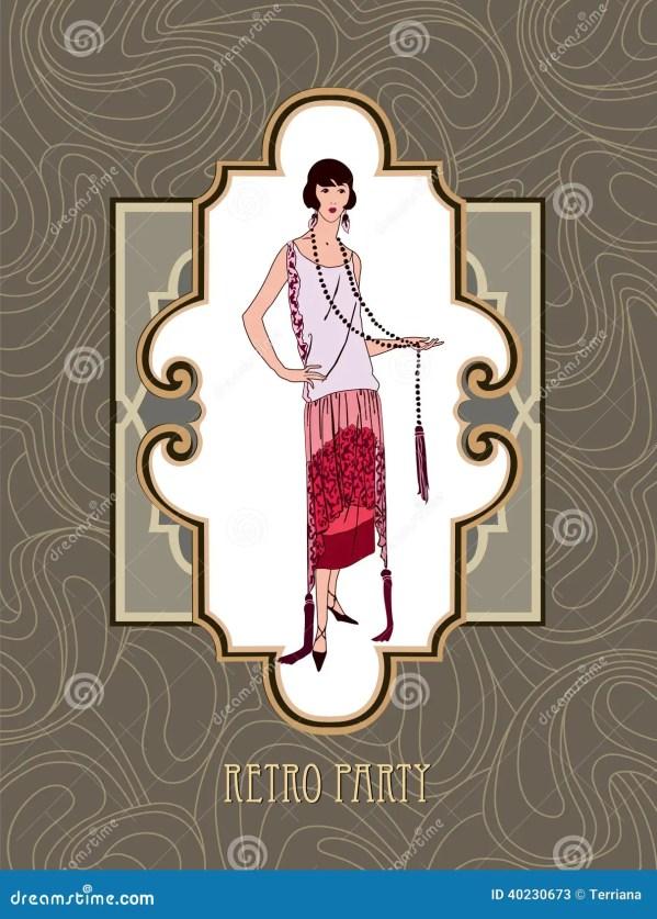 Vintage Fashion Girl Clip Art