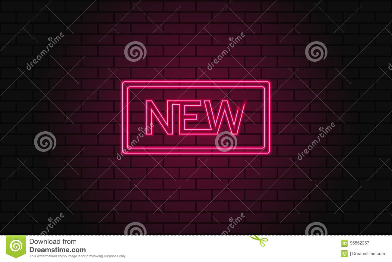 hight resolution of vintage electric signboard with bright neon lights pink light falls on a brick background vector