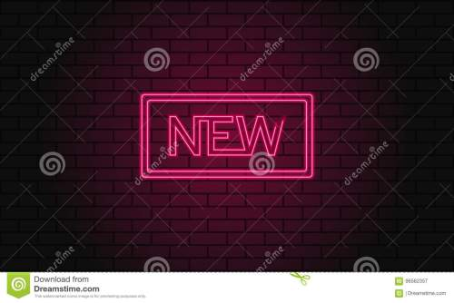 small resolution of vintage electric signboard with bright neon lights pink light falls on a brick background vector