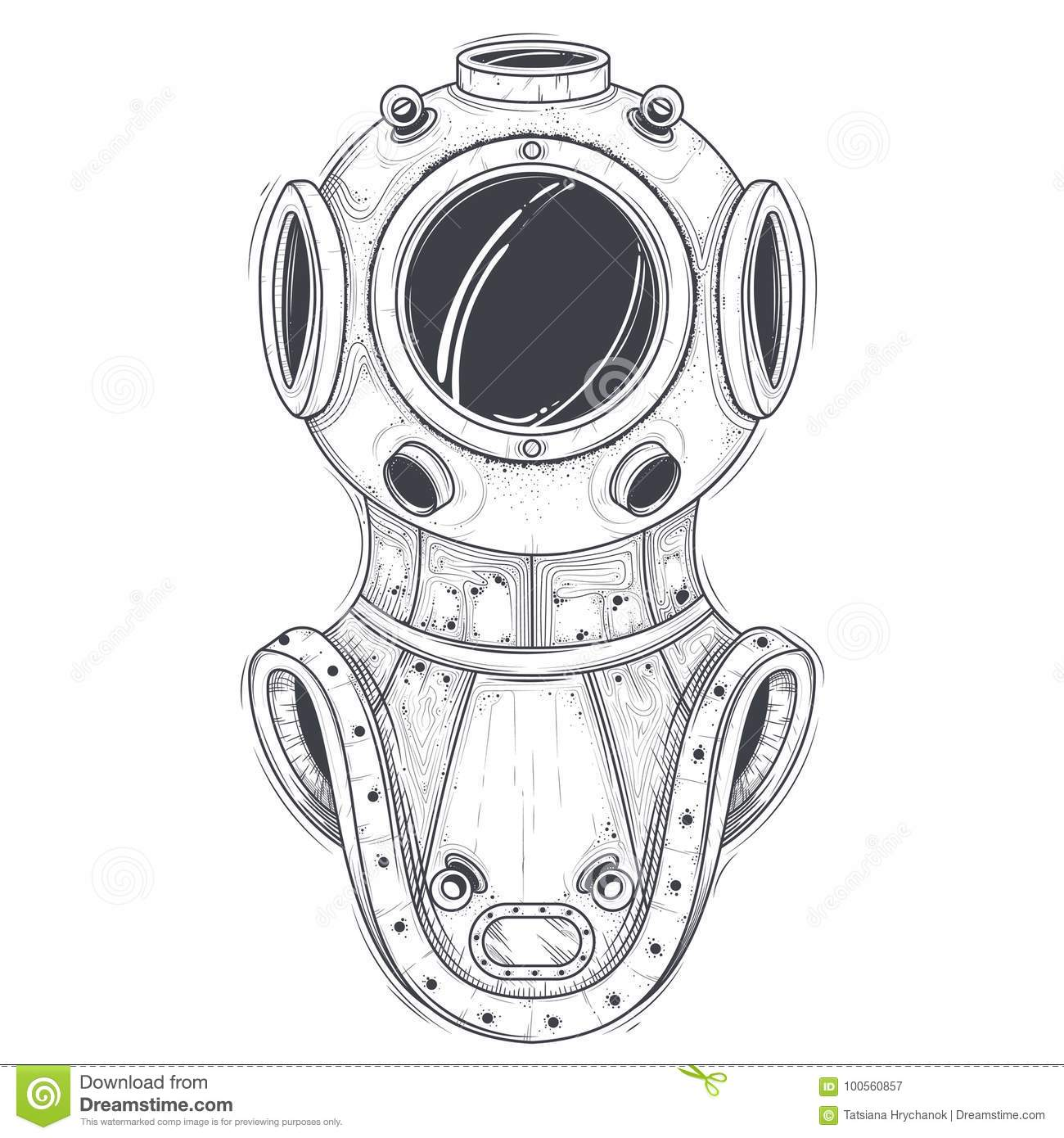 Antique Diving Suit Royalty Free Stock Photography