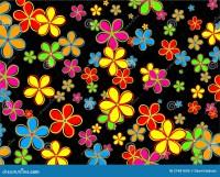 Retro Flower Wallpaper Design Royalty Free Stock Photo ...