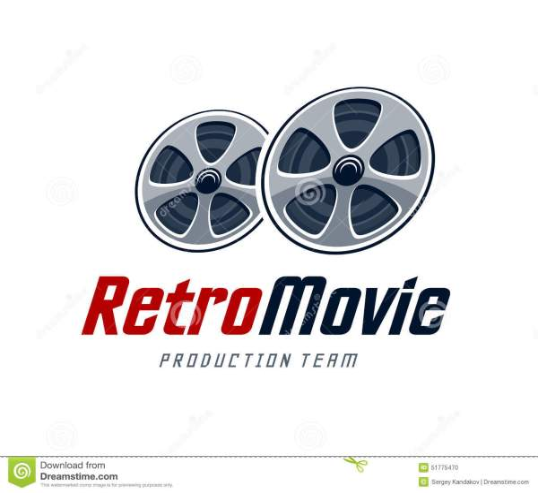 Retro Movie Logo Stock Vector - 51775470