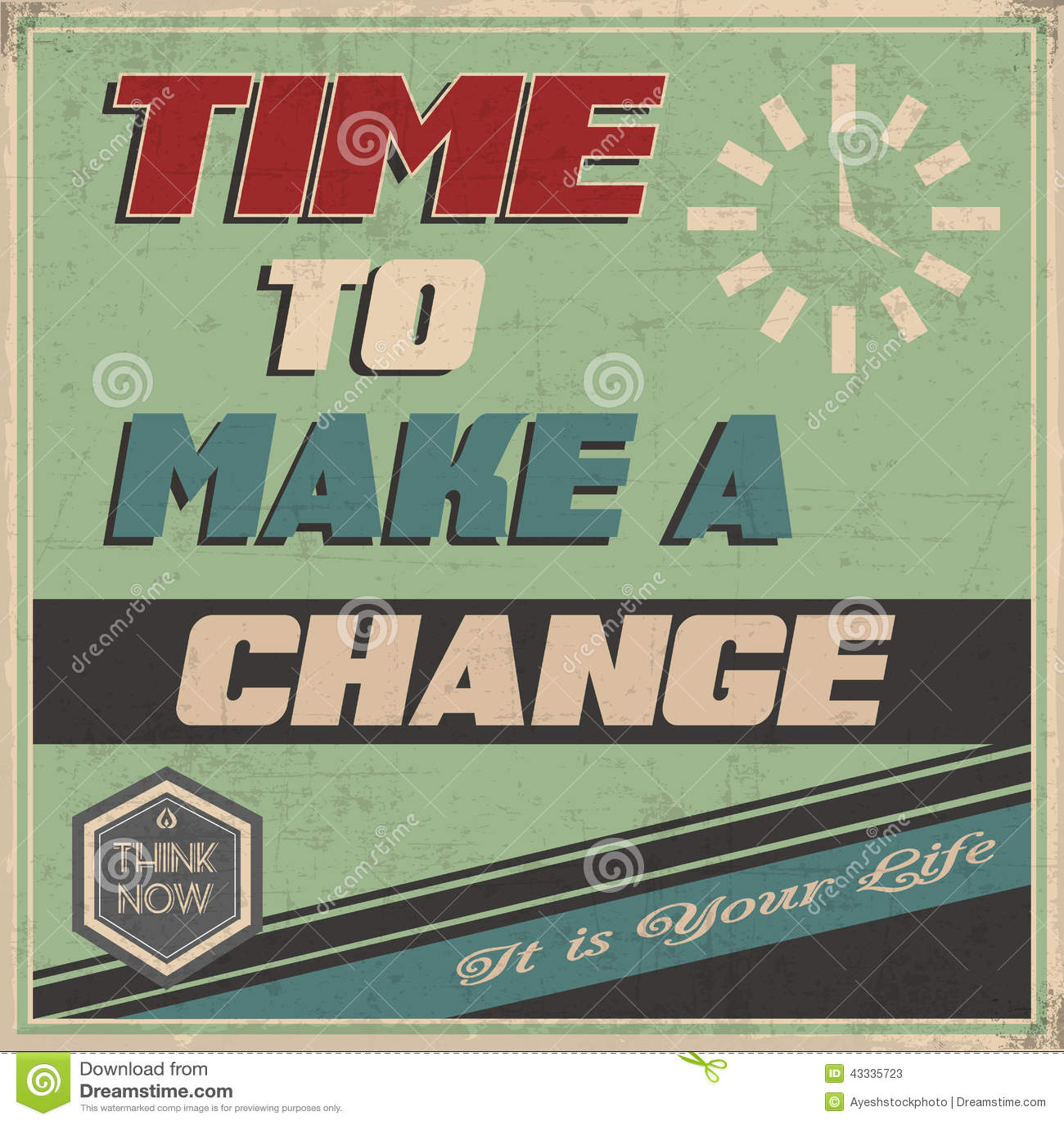 retro old motivation poster